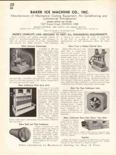 Baker Ice Machine Company 1938 Vintage Catalog Refrigeration Equipment
