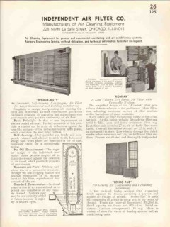 Independent Air Filter Company 1938 Vintage Catalog Cleaning Equipment