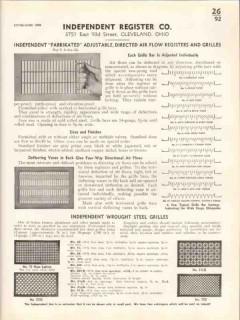 Independent Register Company 1938 Vintage Catalog Directed Air Flow