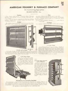 American Foundry Furnace Company 1938 Vintage Catalog Damper Louver