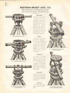 Bostrom-Brady Mfg Company 1938 Vintage Catalog Levels Farm Contractor