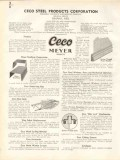 Ceco Steel Products Corp 1938 Vintage Catalog Concrete Steelform Bars