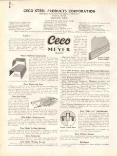 Ceco Steel Products Corp 1938 Vintage Catalog Concrete Steelform Bars