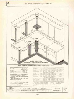 Art Metal Construction Company 1938 Vintage Catalog Kitchen Cabinets