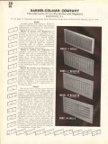 Barber-Colman Company 1938 Vintage Catalog Registers Uni-Flo Grilles