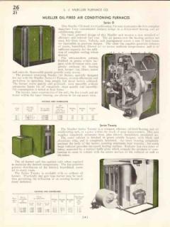 L J Mueller Furnace Company 1938 Vintage Catalog Heating AC Equipment
