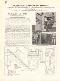 Inclinator Company 1938 Vintage Catalog Lift Simplified Passenger Home