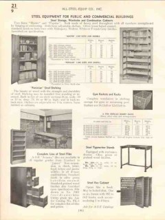 All-Steel-Equip Company 1938 Vintage Catalog Lockers Wardrobes