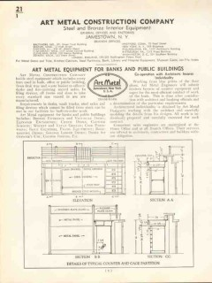 Art Metal Construction Company 1938 Vintage Catalog Bank Library