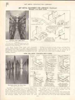 Art Metal Construction Company 1938 Vintage Catalog Bank Library