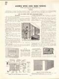 Acorn Wire Iron Works 1938 Vintage Catalog Mesh Enclosure Panels Gates