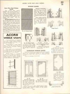 Acorn Wire Iron Works 1938 Vintage Catalog Mesh Enclosure Panels Gates