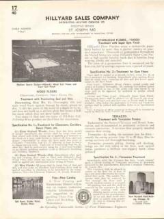 Hillyard Chemical Company 1938 Vintage Catalog Floor Finish Treatment