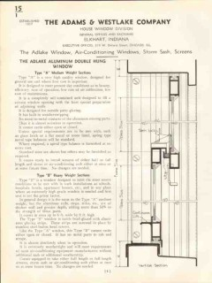 Adams Westlake Company 1938 Vintage Catalog Windows Adlake Double-Hung