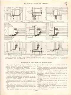 Adams Westlake Company 1938 Vintage Catalog Windows Adlake Double-Hung