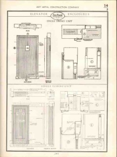 Art Metal Construction Company 1938 Vintage Catalog Door Hollow Frames