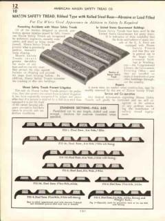 American Mason Safety Tread Company 1938 Vintage Catalog Abrasive Lead