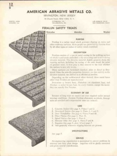 American Abrasive Metals Company 1938 Vintage Catalog Feralun Treads