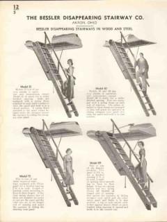 Bessler Disappearing Stairway Company 1938 Vintage Catalog Wood Steel
