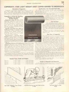 Angier Corp 1938 Vintage Catalog Brownskin Insulating Building Paper
