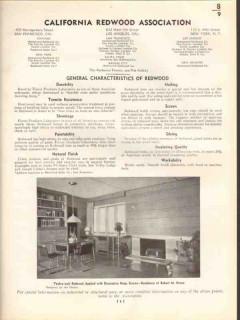 California Redwood Association 1938 Vintage Catalog Exterior Interior