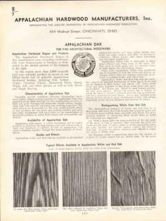 Appalachian Hardwood Mfg Inc 1938 Vintage Catalog Wood White Red Oak