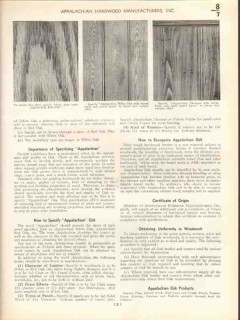 Appalachian Hardwood Mfg Inc 1938 Vintage Catalog Wood White Red Oak
