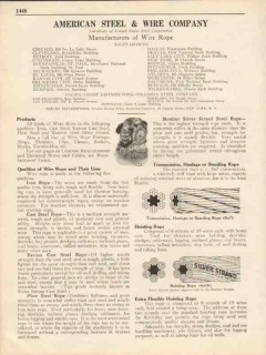 American Steel Wire Company 1931 Vintage Catalor Rope Manufacture