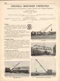 Industrial Brownhoist Corp 1931 Vintage Catalog Locomotive Cranes