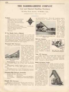 Barber-Greene Company 1931 Vintage Catalog Coal Handling Machinery