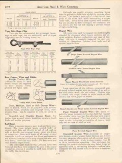 American Steel Wire Company 1931 Vintage Catalog Electrical Cables