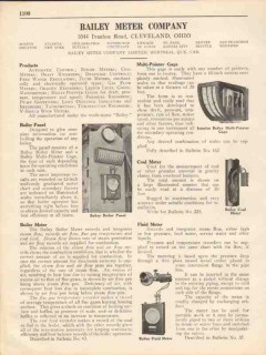 Bailey Meter Company 1931 Vintage Catalog Coal Fluid Boiler Gas