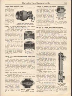 Ludlow Valve Mfg Company 1931 Vintage Catalog Double Gate Straightway