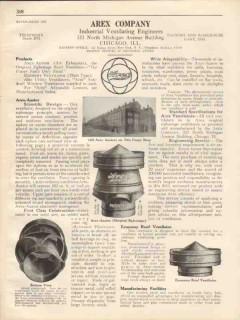 Arex Company 1931 Vintage Catalog Ventilating Arex-Austor Industrial