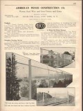 American Fence Construction Company 1931 Vintage Catalog Chain Link