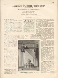 American Enameled Brick Corp 1931 Vintage Catalog Am-En Manufacturers