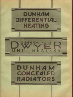 C A Dunham Company 1931 Vintage Catalog Heating Concealed Radiators