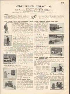 Aeroil Burner Company 1931 Vintage Catalog Kerosene Torches Kettles
