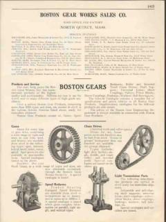 Boston Gear Work Sales Company 1931 Vintage Catalog Chain Drives