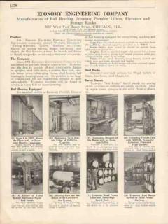 Economy Engineering Company 1931 Vintage Catalog Elevators Portable