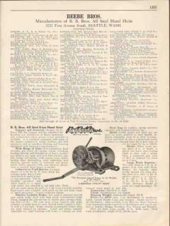 Beebe Brothers 1931 Vintage Catalog Hand Hoist B.B. Bros Steel 5-Ton