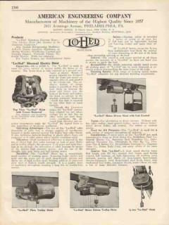 American Engineering Company 1931 Vintage Catalog Trolley Hoist Lo-Hed