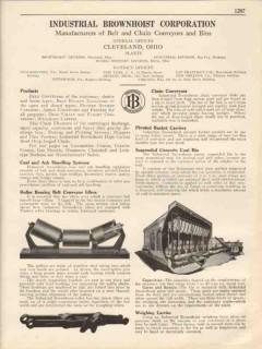 Industrial Brownhoist Corp 1931 Vintage Catalog Belt Chain Conveyors
