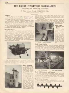 Brady Conveyors Corp 1931 Vintage Catalog Skip Hoists Elevators Larry