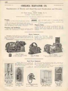 Chelsea Elevator Company 1931 Vintage Catalog Electric Hand Dumbwaiter