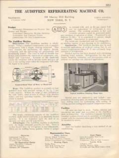 Audiffren Refrigerating Machine Company 1931 Vintage Catalog Drinking