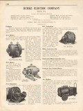 Burke Electric Company 1931 Vintage Catalog Motor Generator Sets AC-DC