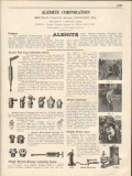 Alemite Corp 1931 Vintage Catalog Lubricating System Push-Type Fitting