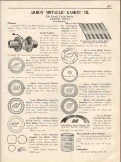 Akron Metallic Gasket Company 1931 Vintage Catalog Asbestos Metal