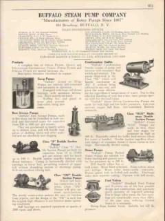 Buffalo Steam Pump Company 1931 Vintage Catalog Sewage Sump Steam Foot